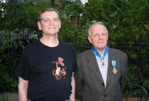 Foto: Tarmo Kulmar ja Andres Taul viimase koduaias Torontos 2008. F: T. Kulmar  - pics/2011/10/33661_1_t.jpg