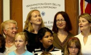 Washingtoni Eesti kooli keeleõpetajaid: vasakult Silvi Valge, Kaia Kirchman, Piret Lai-Neubacher ja Siiri Sutt. Foto: Katrin Eliste - pics/2011/10/33903_6_t.jpg