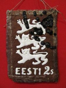 Piparkoogist tehtud esimese Eesti Vabariigi aegse margi nurgas on isegi templijälg. Foto: Riina Kindlam  - pics/2011/12/34519_3_t.jpg
