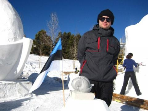 Eesti-Läti võistkonna kapten Lauri Tamm. - pics/2012/04/35950_022_t.jpg