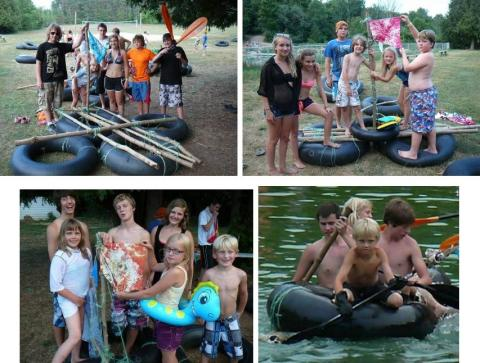 Ready test their skills for fun…… building Patrol rafts for a race! - pics/2012/07/37054_008_t.jpg