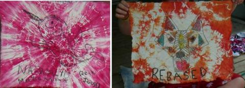 Patrol Flags were created with tie dyed art thanks to Krista Koger! - pics/2012/07/37054_012_t.jpg