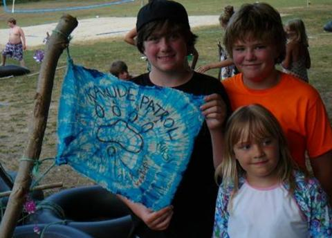 Patrol Flags were created with tie dyed art thanks to Krista Koger! - pics/2012/07/37054_023_t.jpg