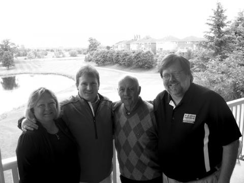 Here are this year's EGO Tournament  organizers and St. Andrew's Valley executive planning for this year's golf extravaganza. From left to right: Aili Wells (EGO), Rob Pearce (St. Andrew's Valley Golf Club Director), Sean Hesketh (St. Andrew's Valley Golf Club Operations Manager) and Jaak Jarve (EGO). - pics/2012/08/37157_002_t.jpg