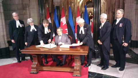 Foto: President Toomas Hendrik Ilves Kanada parlamendis. Foto: VPK - pics/2013/05/39277_001_t.jpg