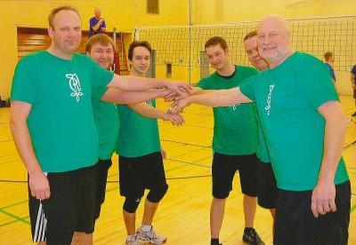 Möödunud aasta (2013) EKL-i võrkpalli võistlusel osalenud korp! Rotalia meeskond. Korp! Rotalia on sellel aastal EKL-i raames turniiri peakorraldaja.  foto: ajr - pics/2014/01/41285_001_t.jpg