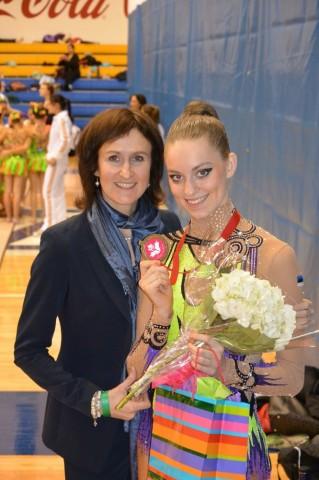 Carmel Kallemaa koos treenerist ema ja võstluse korraldaja Janika Mölderiga.Foto: erakogu - pics/2014/05/42104_001_t.jpg