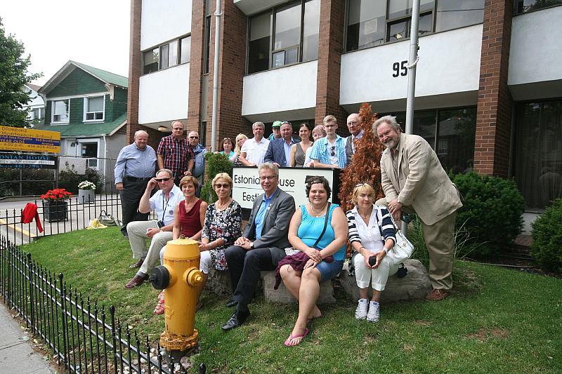 Lions Clubs International Eesti delegatsioon külas Toronto Eesti Majas.Foto: Tõnu Orav - pics/2014/07/42726_002.jpg