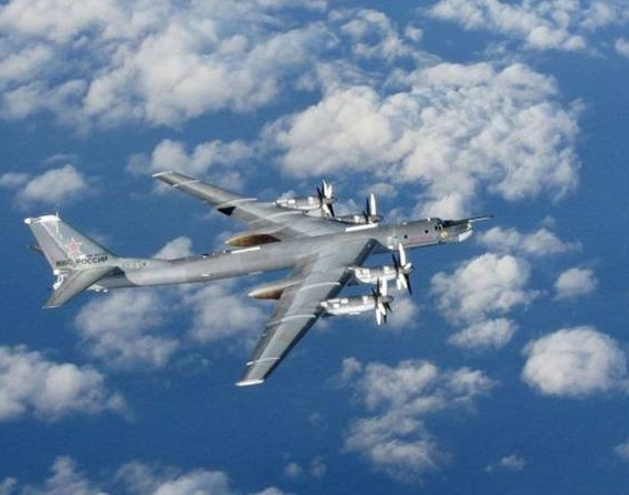 A Russian Bear 'H' aircraft photographed from an intercepting RAF Typhoon near UK airspace - pics/2014/11/43494_001.jpg