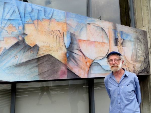 Arne Roosman Tartu College'i juures oma seinamaalingu ees. Foto: P. Noorhani - pics/2016/09/48321_001_t.jpg