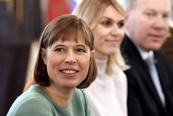 Kaljulaid at a meeting in Finland this month. (Jussi Nukari/AFP/Getty Images) - pics/2017/03/49438_001.jpg
