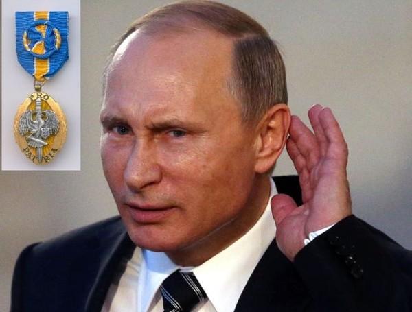 V. Putinile tuli teenetemedal üllatusena.Autor: Kremli pressiteenistus - pics/2017/04/49482_001.jpg