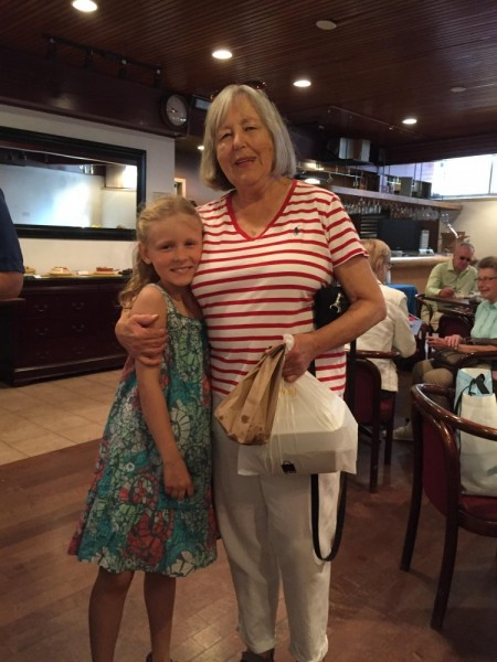 Viola Beatty and Marika Sepp are happy with their selection of baked goods at the Friends' Café, which took place at the Estonian House on Saturday.  - pics/2017/09/50388_006_t.jpg