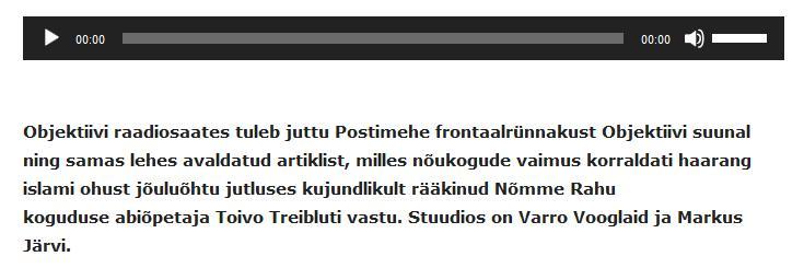 7fe5fb1fd2c http://objektiiv.ee/objektiivi... Markus Järvi - 8. jaanuar 2019. Objektiivi  raadiosaates tuleb juttu Postimehe frontaalrünnakust Objektiivi suunal ning  ...