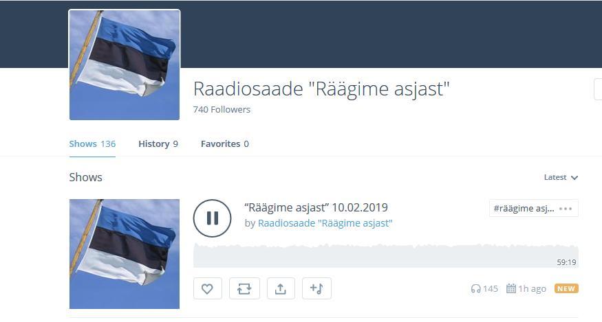 """""""Räägime asjast"""" 10.02.2019 by Raadiosaade """"Räägime asjast"""""""