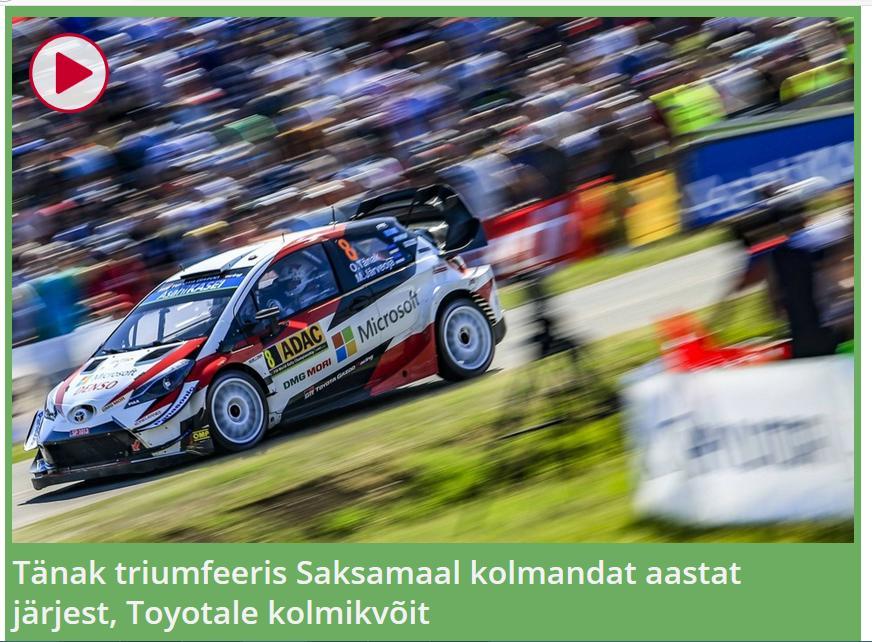 Tänak triumfeeris Saksamaal kolmandat aastat järjest, Toyotale kolmikvõit  ETV