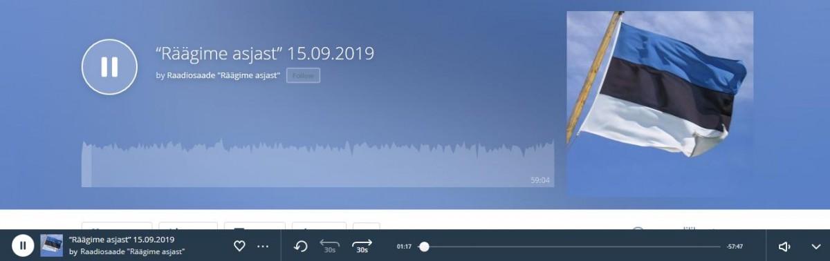 """""""Räägime asjast"""" 15.09.2019 by Raadiosaade"""