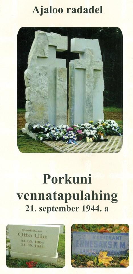 Täna, Porkuni lahingu 75. aastapäeval, 21. septembril,.....